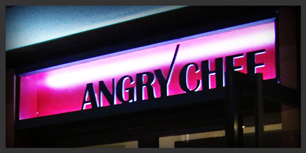 Meiji's indoor signs - Angry Chef