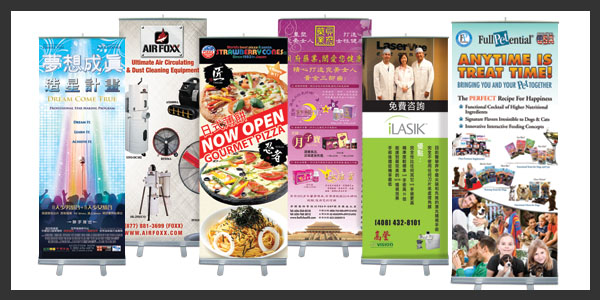Meijisign Roll Up Stands